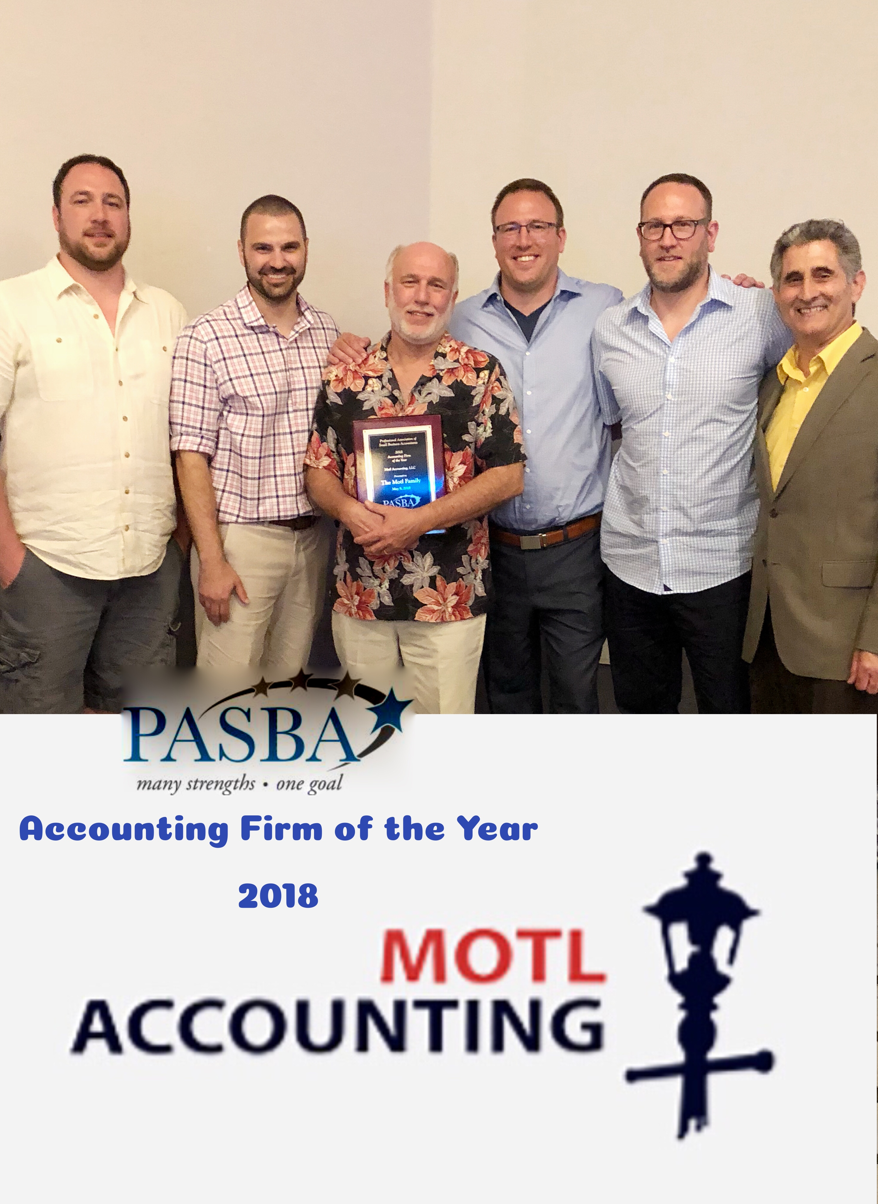 Motl Accounting wins 2018 PASBA Award – Accounting Firm of the Year